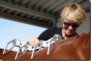 Karen Loshbaugh, Horse trainer, Saddlefit Technician, equipment